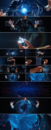 高科技点击触摸虚拟现实视频