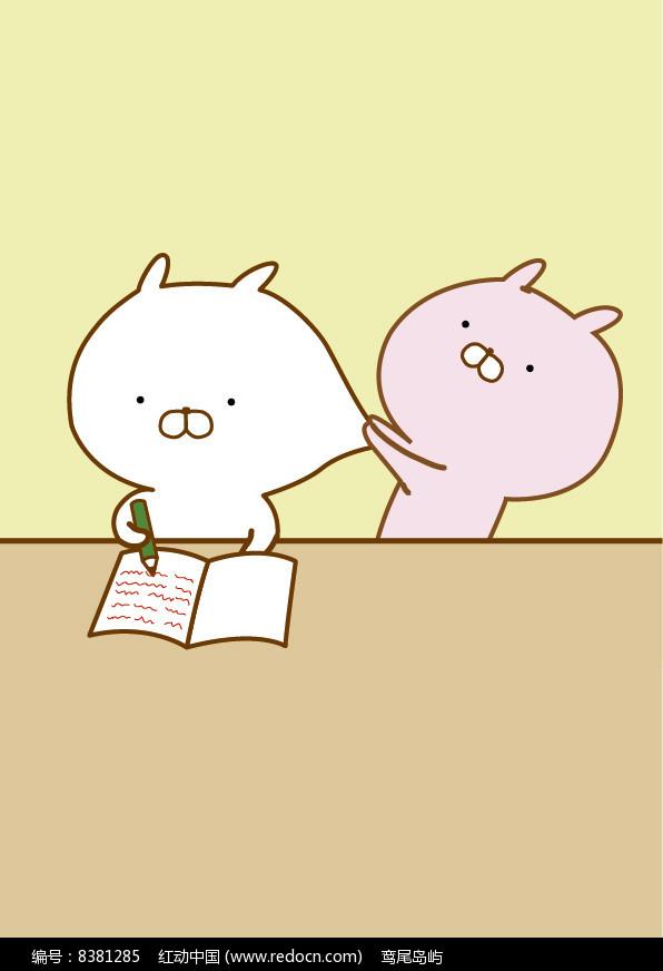 原创设计稿 卡通图片/插画 其他插画 可爱的卡通小动物兔的矢量插画