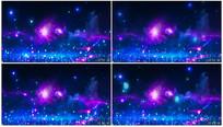 唯美粒子星空视频素材