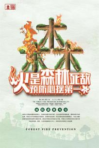 创意森林防火宣传海报