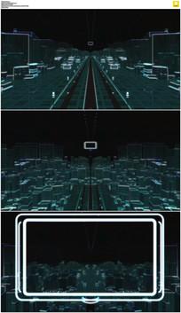 科技城市穿梭开场视频素材