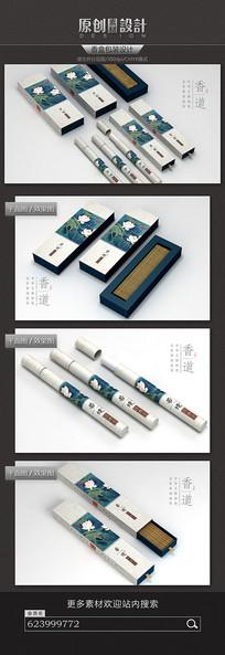 中国风香盒包装设计 PSD
