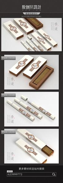 中国古典香盒包装设计 PSD