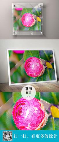 茶花立体装饰画