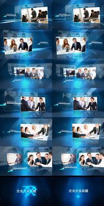 大气蓝色科技 三维空间图片展示视频