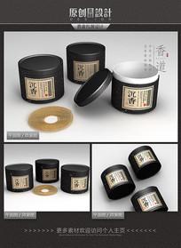 古典沉香香盒包装设计 PSD