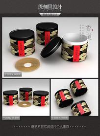 古典盘香香盒包装设计 PSD