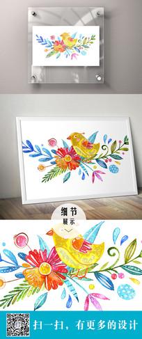绘画鸟装饰画