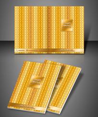 金色纹理企业品牌封面