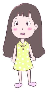 卡通女孩插画