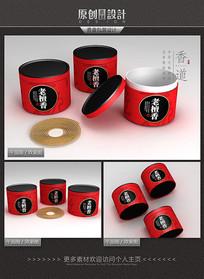 老檀香香盒包装设计 PSD