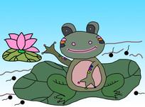 青蛙王子卡通插画