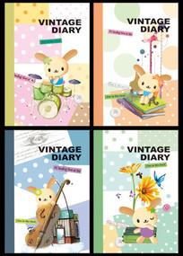 兔宝宝卡通本本封面