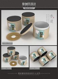 唯美盘香香盒包装设计 PSD