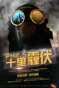 雾霾治理公益宣传海报