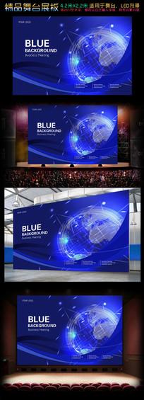 星际科技蓝色背景板