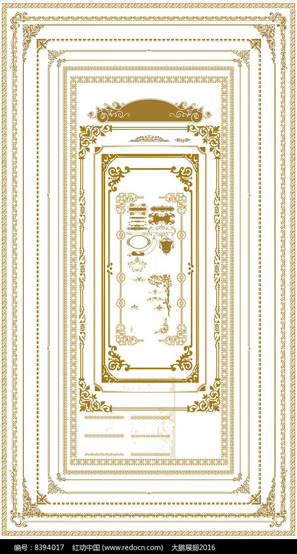 大气金属边框相框花纹设计图片
