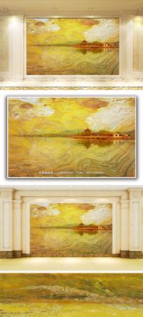 湖光十色大理石纹背景墙