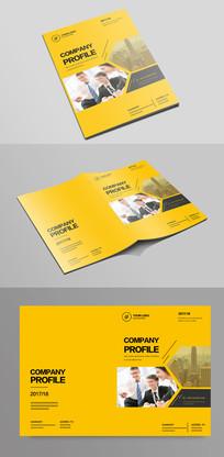 简单大气黄色企业宣传画册封面