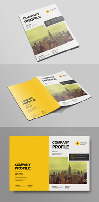 简单大气企业文化宣传画册封面