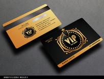金色高档会员卡设计模板