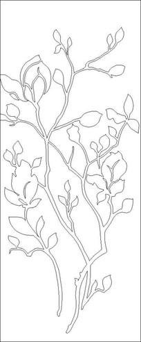 镂空玉兰雕刻图案