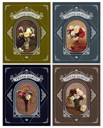 欧式花卉相册封面