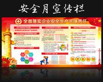 社区党建安全生产月活动展板