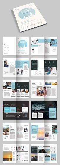 时尚欧美企业画册宣传册模板