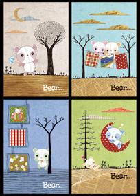 小熊卡通本本封面
