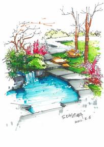 夏天的庭院