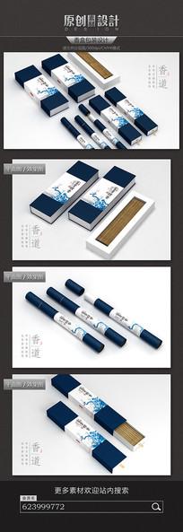 中国风古典香盒包装设计 PSD