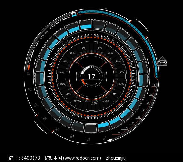 科技汽车转速表动画素材带通道