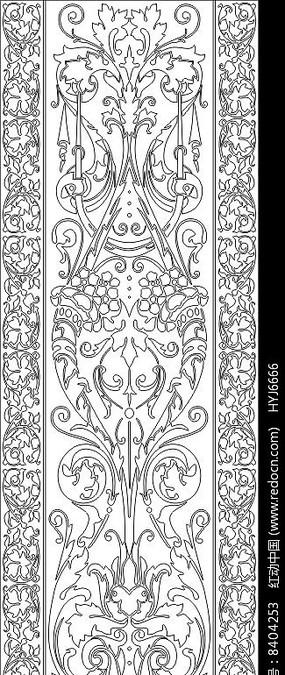 镂空欧式花纹雕刻图案