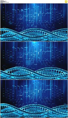 蓝色dna动态背景视频素材