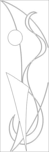平面图雕刻图案
