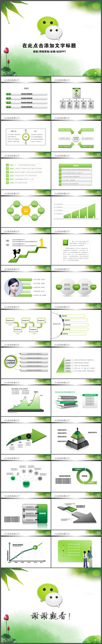 微信微营销PPT模板