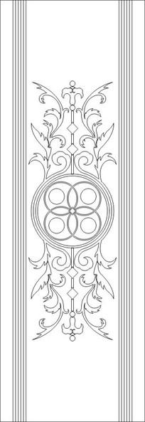 中式花纹雕刻图案