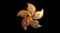紫荆花旋转视频素材 mov