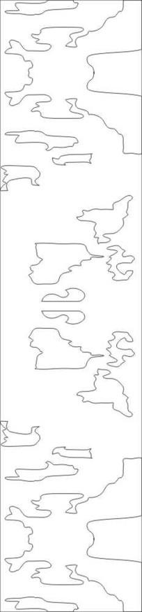 地图雕刻图案