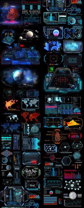 高科技界面信息元素包模板