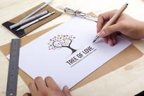 公益环保爱心树教育LOGO