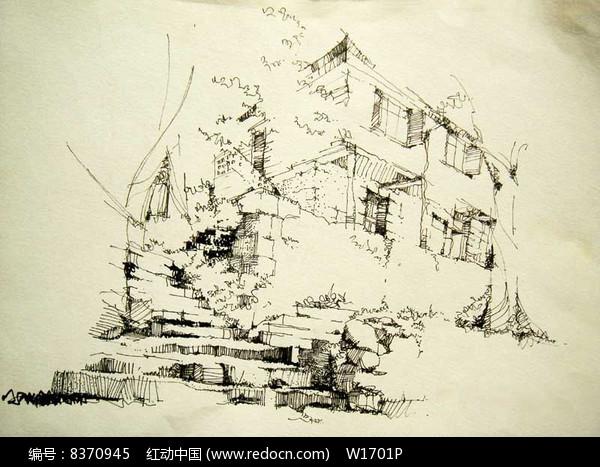 专辑 景观方案意向 景观手绘素材意向 手绘透视效果图专辑 当前