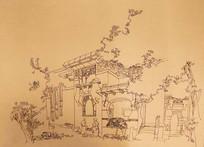 建筑手绘线稿 JPG