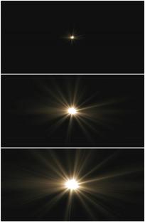 金色光点变大太阳放射光芒视频