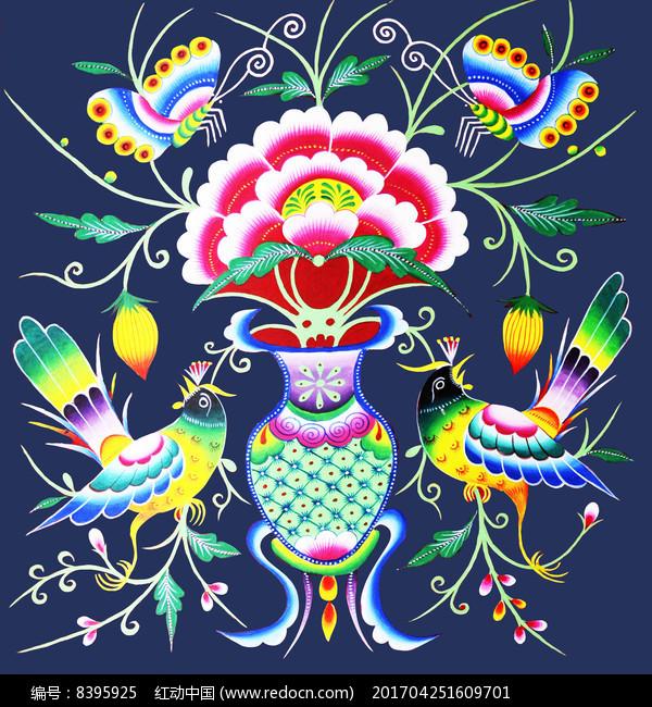 色彩浓郁对比鲜明民族苗画纹样图案图片