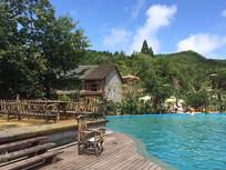 泳池景观意向图