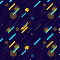 扁平几何网页banner元素素材