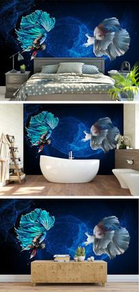 斗鱼3D电视背景墙