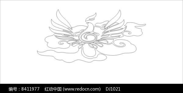 凤凰雕刻图案图片